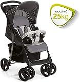 Hauck Shopper SLX Trio Set 3 in 1 Kinderwagen bis 25 kg + Babyschale + Babywanne mit Matratze ab Geburt, Buggy mit Liegefunktion, Getränkehalter, leicht, klein faltbar, stone grey (grau) - 4
