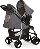 Hauck Shopper SLX Trio Set 3 in 1 Kinderwagen bis 25 kg + Babyschale + Babywanne mit Matratze ab Geburt, Buggy mit Liegefunktion, Getränkehalter, leicht, klein faltbar, stone grey (grau) - 3